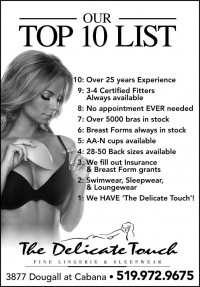 bra and lingerie top 10 list